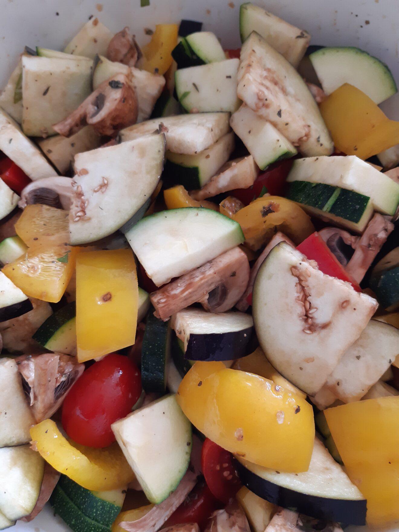 Megalekkere gegrilde groente uit de oven